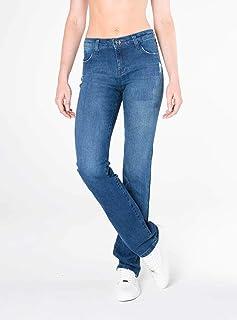 2bc33a5d9 Calça Jeans Bootcut cintura alta azul Mofficer