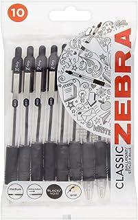 Zebra Grip Black Ballpoint Pens, Pack of 10, 107142501