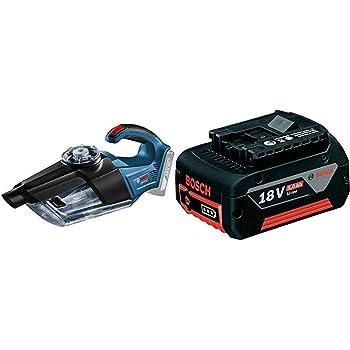 Bosch Professional - Aspirador a batería GAS 18V-1 + Bosch Professional 1600A002U5 Batería 18 V, 18 W, Negro: Amazon.es: Bricolaje y herramientas