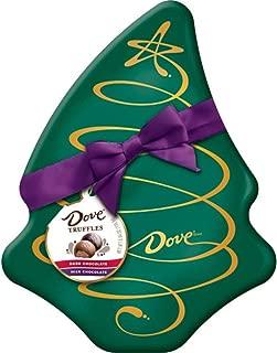 DOVE Chocolate Truffles Assorted Tree Box Tin Christmas Candy Gift, 5.64-Ounce Tin