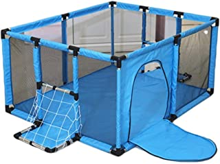 LOVE BABY Lovebaby Playpen Baby Small Portable Playard with Door  Household Children s Play Fence Indoor Protective Fence  120x100x62cm  Color Blue-1