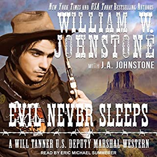 Evil Never Sleeps audiobook cover art