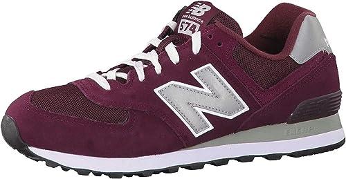 New Balance Lifestyle Men Sneaker Red M574NBU, Size:42.5: Amazon ...