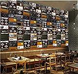 IWJAI Paredes Decoración Hogar Sala de conciertos de radio con altavoz retro blanco y negro Papel tapiz fotográfico Murales estéreo 3D modernos Sala de estar Fondo de TV Decoración de pared Pegatinas