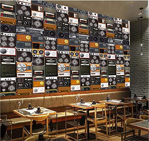 CSZBH 3D Wallpaper Selbstklebendes Wandbild (B) 200X (H) 150Cm Lautsprecher Radio 3D Wandbild Kinderzimmer Schlafzimmer Tapeten Wohnzimmer Esszimmer Kindergarten Wand Poster Kunst Wand Foto