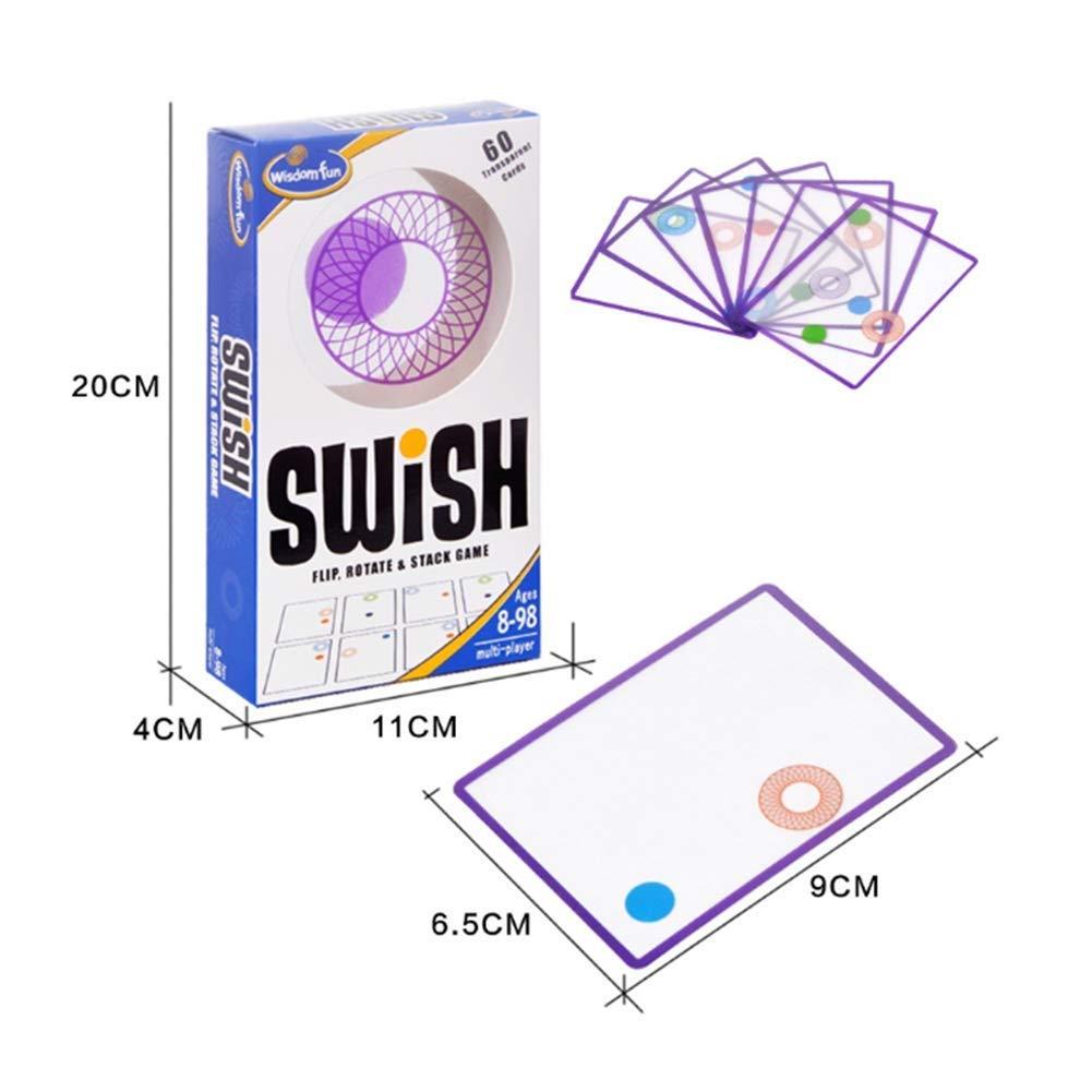 Rose Apilamiento Swish Tarjeta Juego Tablero Juego Puzzle Lógica Pensamiento Inteligencia JugueteClassic 60 Sheets: Amazon.es: Hogar