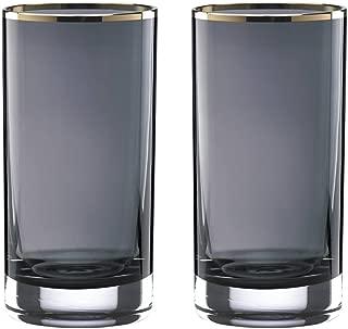 Lenox Kate Spade New York South Street CRYSTAL Hiball Bar Drinking Glasses, Set of 2 Size: 6 1/8