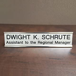 Dwight K. Schrute Gag Gift Desk Name Plate - Great for The Office