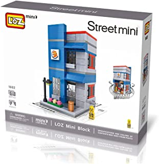 Loz 1602. Kit de construccion miniaturizada. Hamburgueseria Burger King. 307 piezas