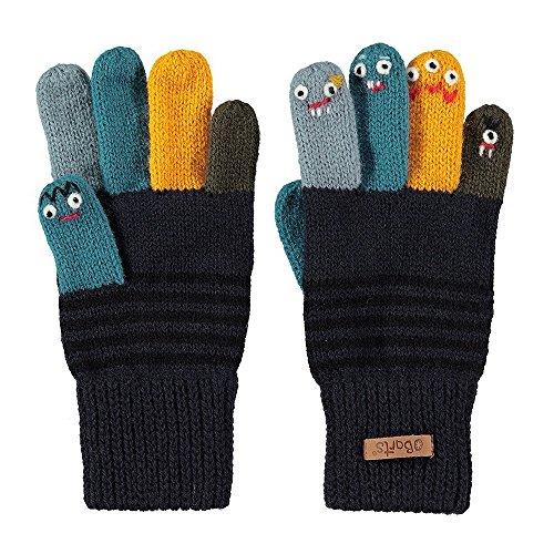 Barts Barts Puppet Kinderhandschuhe Fingerhandschuhe Fingerhandschuhe Strickhandschuhe (3 HS - dunkelblau)