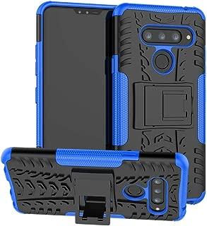 LG V40 ThinQ Case, LG V40 Case, Boythink Double-Layer Hybrid Shock Resistant Armor with Kickstand Protective Case for LG V40 Storm (Navy)