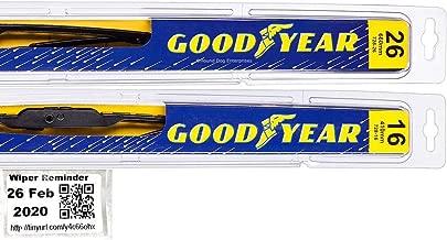 Premium - Windshield Wiper Blade Bundle - 3 Items: Driver & Passenger Blades & Reminder Sticker fits 2012-2019 Hyundai Accent