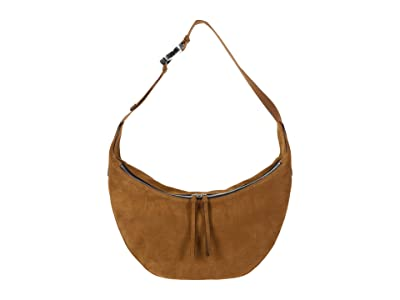 rag & bone Riser Hobo (Golden Brown Suede) Handbags