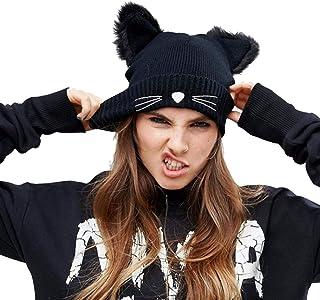 CNNIK Cappello da Orecchio di Gatto per Donna Cappello da Sci Caldo Lavorato a Maglia Invernale da Donna, con lanugine e R...