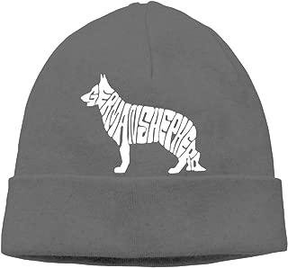 German Shepherd White Beanie Cap Knit Caps Men&Women Slouchy Soft