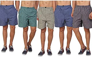 AKAAS Men's Cotton Boxers (Pack of 5)