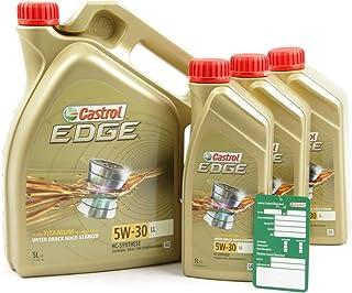 3x 1 L + 5 L = 8 Liter Castrol Edge Fluid Titanium 5W 30 LL Motoröl