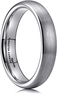 TYRE 2mm 4mm 6mm 8mm Tungsten Carbide Ring Wedding Band Domed Brushed Finish Comfort Fit