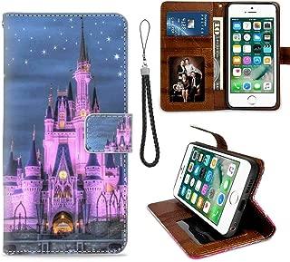 Wallet Case Fit iPhone 6 Plus, iPhone 6s Plus 5.5-Inch America Castle Disney USA