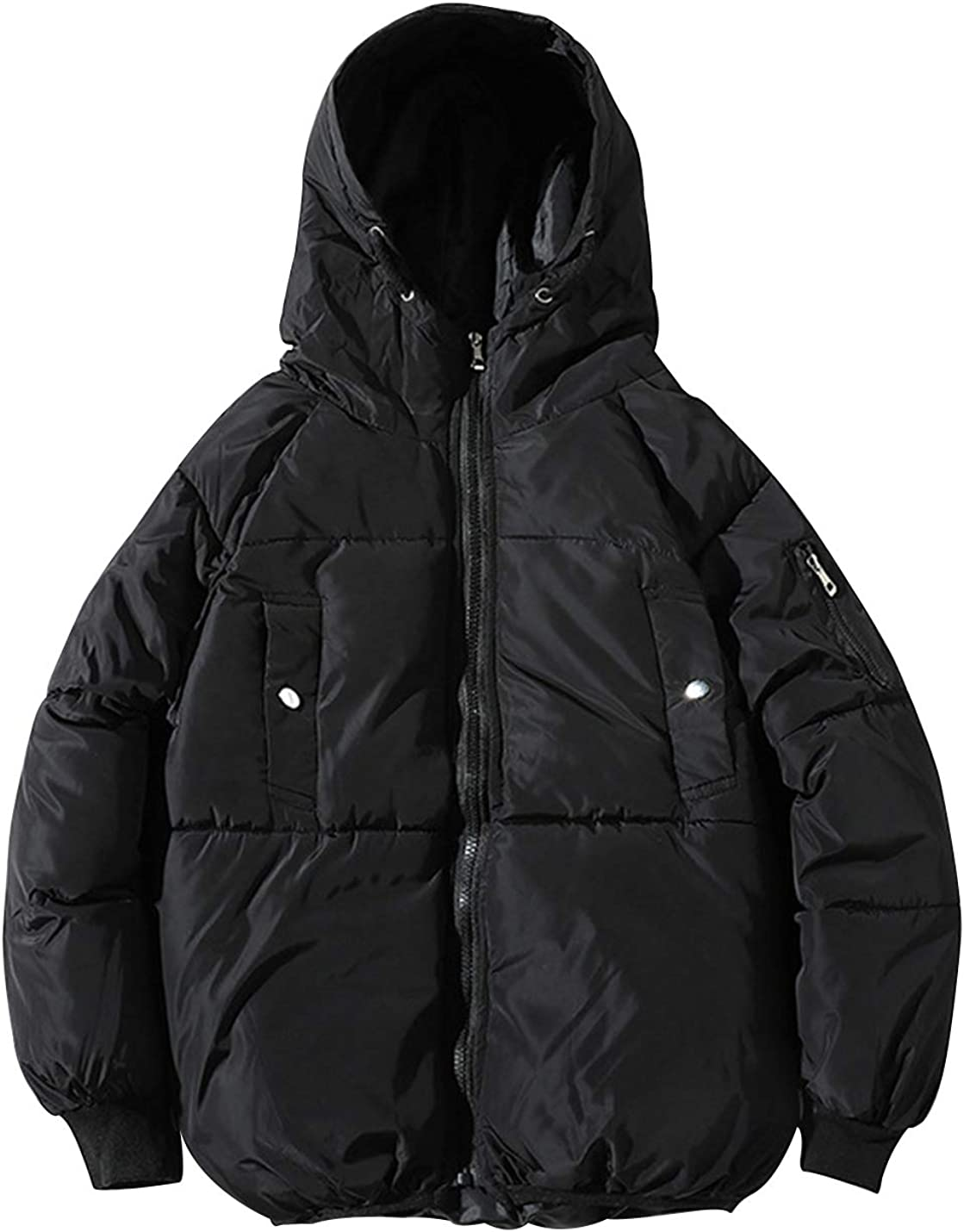 Gihuo Men's Thick Warm Padded Hooded Puffer Jacket Outerwear