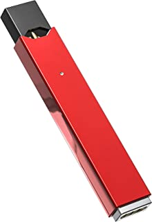 Protective Case and Sanitary Mouth Rest for JUUL Vaporizer - Premium Metallic Shockproof Case - Keeps JUUL Vaporizer Mouthpiece from Touching Table (Device Not Included) (Red Metallic)