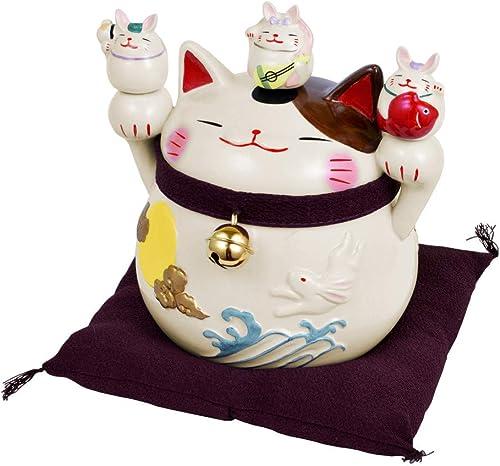 GENTIE Happy Good Luck Beckoning Cat and Rabbit Figur Spardose G-8016N