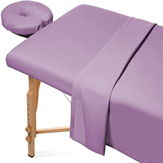 Saloniture 3-Piece Microfiber Massage Table Sheet Set – Premium Facial Bed Cover..