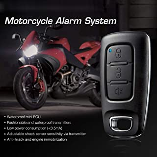 Star-Trade-Inc - 100% Original Steelmate 886E 1 Way Motorcycle Alarm System Water Resistant ECU Motorcycle Engine Immobilization with Transmitter