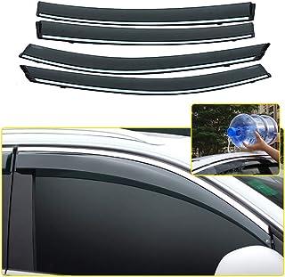 JHDS Ventanillas Viento y Lluvia para Mercedes Benz ML Clase W164 ML350 2007-2011 Visor De Ventana Coche Protector De Lluvia Deflectores Toldo Coche Deflectores Viento