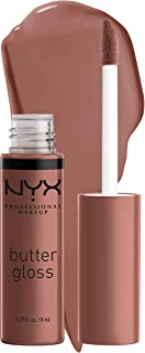 NYX PROFESSIONAL MAKEUP Butter Gloss Brown Sugar, Non-Stick Lip Gloss - Butterscotch (Neutral Light Brown)