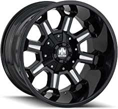 Mayhem COMBAT Gloss Black/Milled Spokes Wheel with Painted Finish (18 x 9. inches /6 x 120 mm, 18 mm Offset)