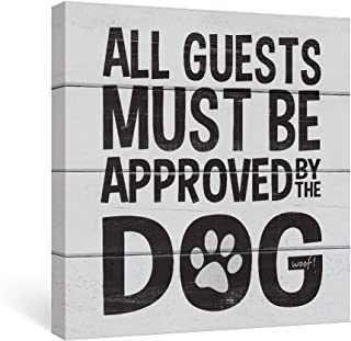 SUMGAR Black and White Wall Art Dorm Bedroom Inspirational Quotes Canvas Paintings Grey Dog Funny Sayings Pictures Animal ...