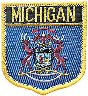 Michigan (MI) Flag Badge Patch