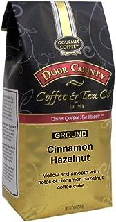 Door County Coffee, Cinnamon Hazelnut, Flavored Coffee, Medium Roast, Ground Coffee, 10 oz Bag