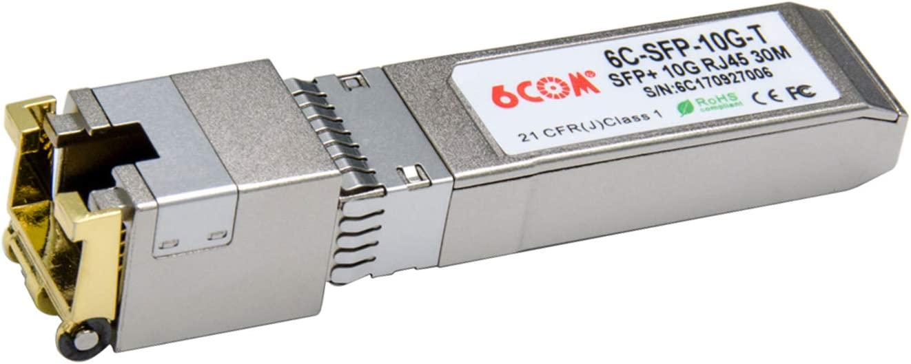 RJ45 Connector 100m 6COMGIGA for Intel E1GSFPT-A 1000Base-T Copper SFP Transceiver