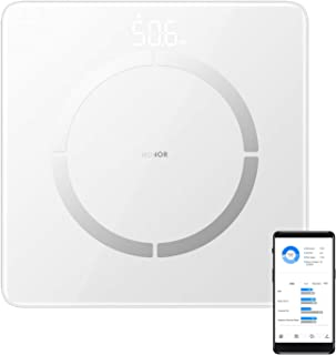 HONOR Scale 2 Báscula Inteligente, Digital Báscula de Baño Wireless con Frecuencia Cardíaca para Android iOS(Blanco)