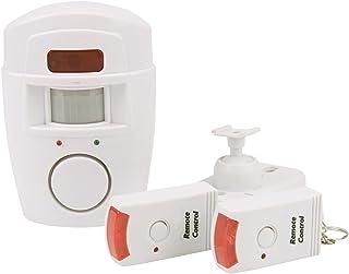 Olympia BM 200Detector de Movimiento PIR con Alarma (inalámbrico Alarma, 105Db Alarma, Mando a Distancia, Sensor de Movimiento inalámbrico con batería, IR Casa de Alarma para Interior)