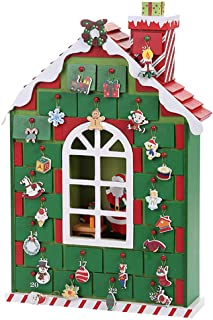 Christmas Wooden Advent Calendar House with 24 Drawers To Fill Candy And Surprise, Christmas Decoration Fill Small Gifts f...