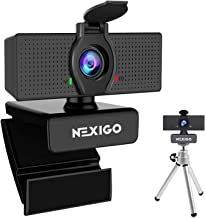 1080P Webcam with Mini Tripod Kits, NexiGo UHD USB Web Camera with Microphone, Privacy Cover, Extendable Tripod Stand, for...