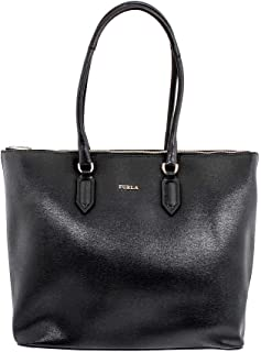 Furla Pin Ladies Medium Black Onyx Leather Tote 978770