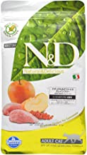 Farmina Natural And Delicious Boar And Apple Grain-Free Formula Dry Cat Food, 3.3 Pound Bag