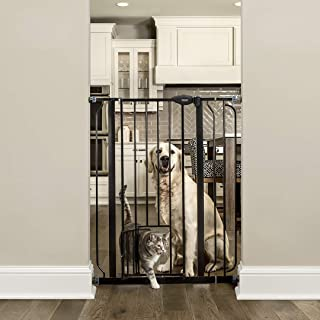 Carlson Extra Tall Walk Through Pet Gate with Small Pet Door, Includes 4-Inch Extension Kit, 4 Pack Pressure Mount Kit and...