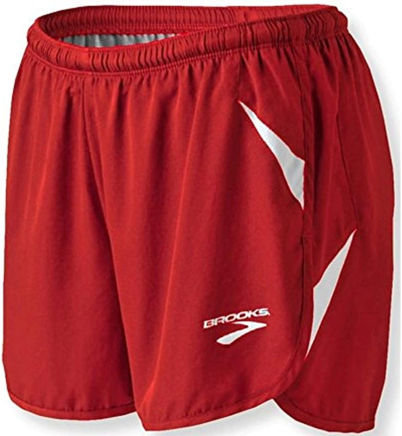 Brooks Athletic Track Field Flyaway Shorts  True Red White  Large