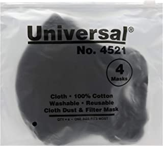 Universal 4521 Face Masks (Pack of 4) – 100% Cotton, Washable, Reusable Cloth Masks –..