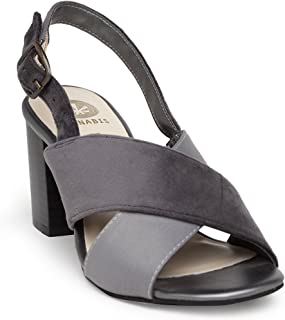 KANABIS Women's Crossways-Grey Fashion Sandals