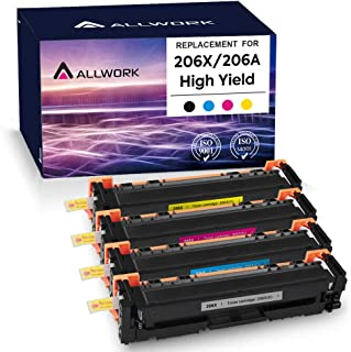 Allwork Compatible Toner Cartridge Replacement for HP206X W2110X for use with HP Color Laserjet Pro M255dw M283fdw M283cd...