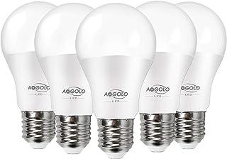 AOGOLO 5W A19 LED Light Bulb,40 Watt Equivalent,Efficient 5.5W LED Bulbs 500LM,E27 Medium Screw Base,2700K Soft White(War...