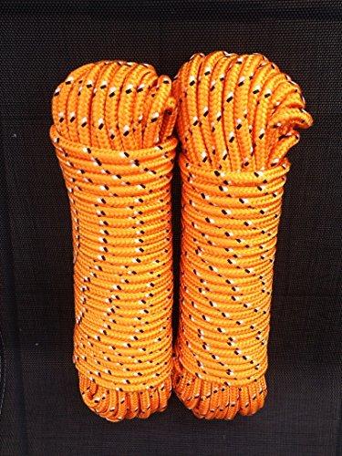 Machermann Nr.32 Orange Bootsleine 12 mm x 30 m,Ankerleine,Festmacher,Allzweckseil, Segeltauwerk, Mehrzweckseil, Bootstau, Strick, Ersatzseil, Reparaturseil, Schot,Seil,Leine,Seile