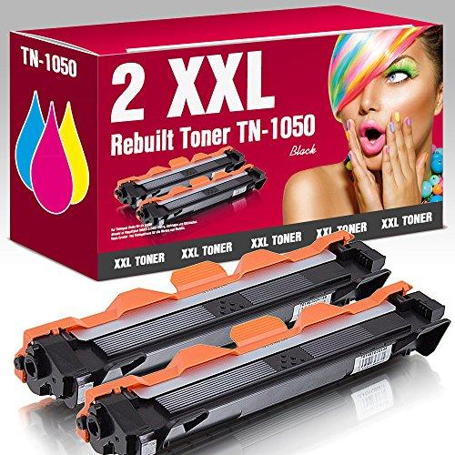 2 Kompatible Toner TN-1050 für Brother DCP-1510 DCP-1512 HL-1110 HL-1110R HL-1112 MFC-1810 MFC-1815