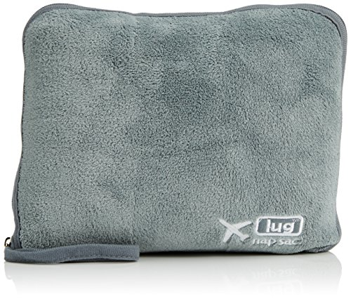 Lug Nap Sac Blanket & Pillow, Fog Grey, One Size